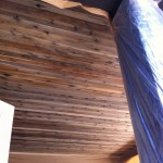 Natural stain to turn cedar siding grey